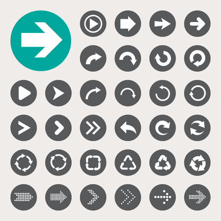 Basic arrow sign icons set.Illustrator eps10
