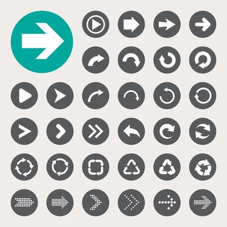 Basic arrow sign icons set.Illustrator eps10
