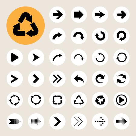Basic arrow sign icons set.Illustrator eps10 Vector
