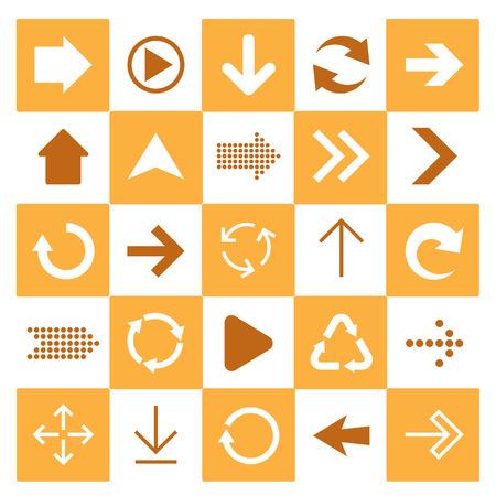 Basic arrow sign icons set.Illustrator. Vector
