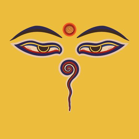 stupa: Buddha eyes