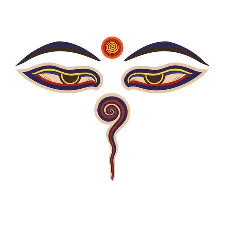 仏の目  イラスト・ベクター素材