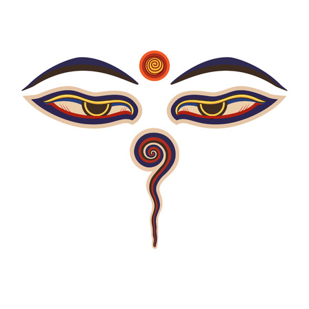 Bouddha yeux Banque d'images - 39508645