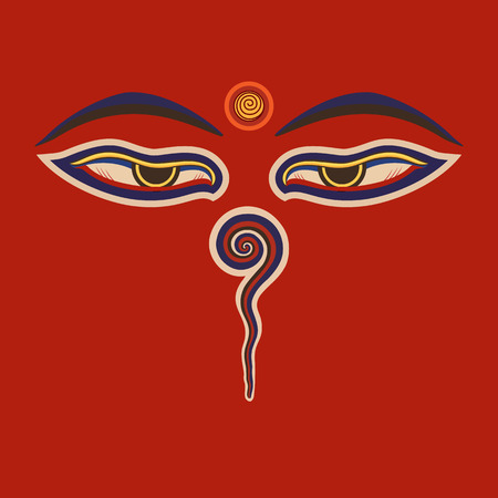 pilgrim journey: Buddha eyes
