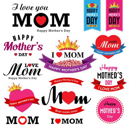 de la madre: Signos d�a de madre feliz Vectores