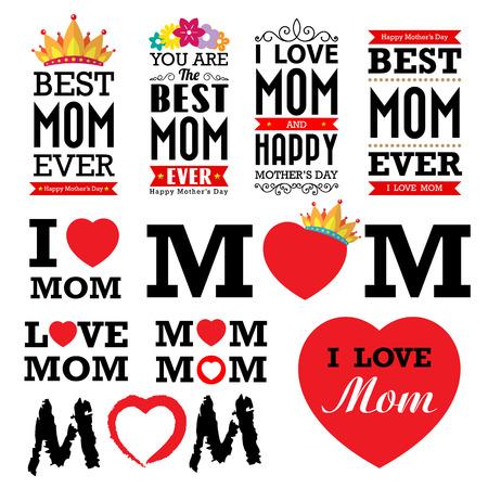 Glückliche Tag der Mutter Zeichen