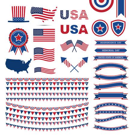 USA flag pattern element .Illustratiom EPS10 Vector