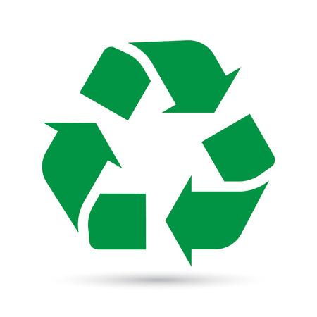 Recycle sign on white background.Illustration eps10