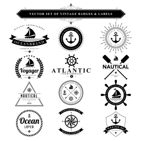 on the ropes: Set of black vintage badges and labels.Vector eps10 Illustration