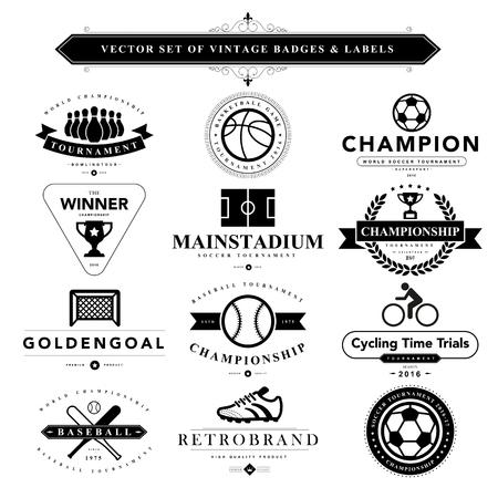 vintage stamp: Set of black vintage badges and labels.Vector eps10 Illustration