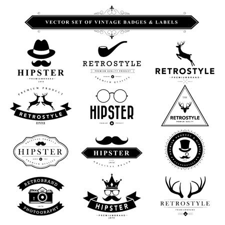 border frame: Set of black vintage badges and labels.Vector eps10 Illustration