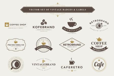 Reeks uitstekende koffie badges en labels