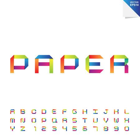 eps10: Colorful paper alphabet .Illustration EPS10