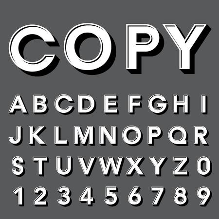 retro type: Retro type font, vintage typography ,Illustratiom EPS10