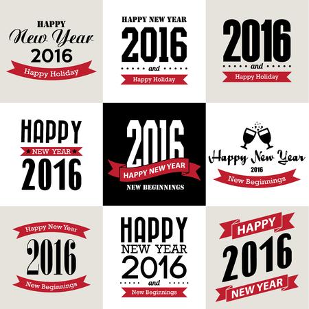New Year: Szczęśliwego nowego roku projekt typograficzny, Ilustracja eps10 Ilustracja