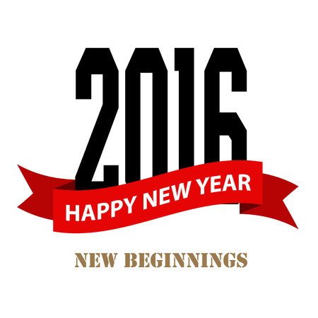 typographic: Happy new year typographic  design , Illustration