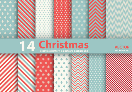 크리스마스 패턴 완벽 한 배경 세트