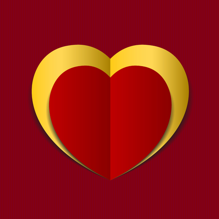 paper heart: Red Heart paper background.