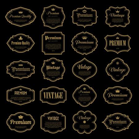 Set di cornice d'oro d'epoca