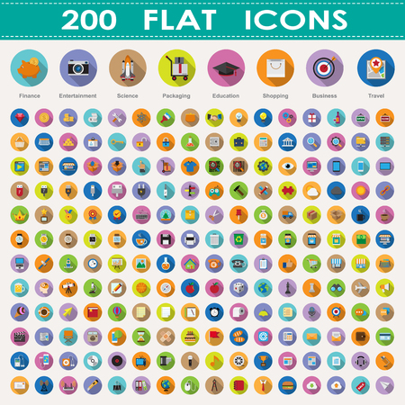 starship: 200 flat icons collection