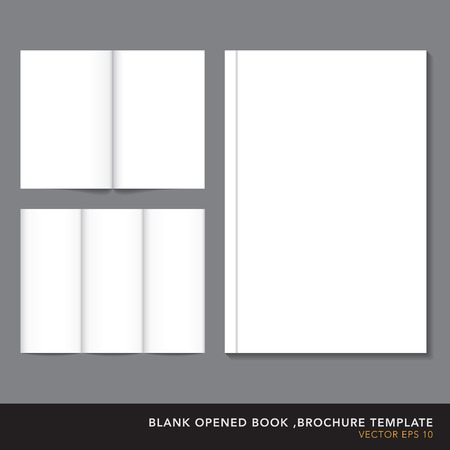 bookcover: Vector blank opened book ,bookcover,,brochure  template.
