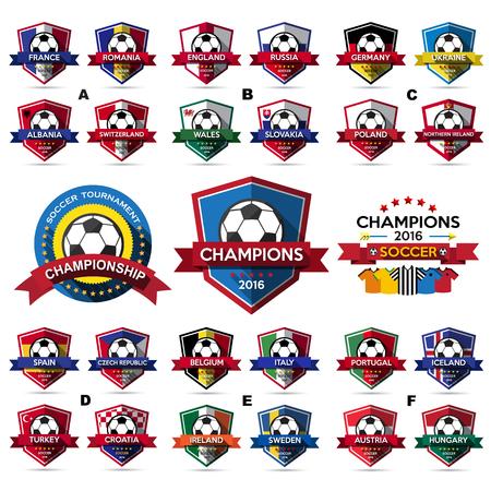 Set of soccer ( football ) badge.