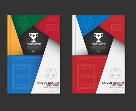football shoe: Soccer ( football ) tournament book cover template ,soccer tournament background.