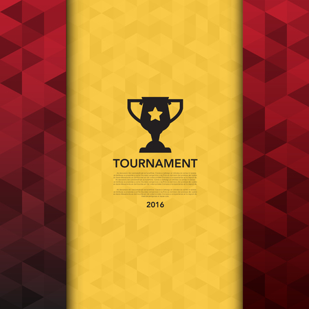 Soccer ( football ) tournament background Illustration