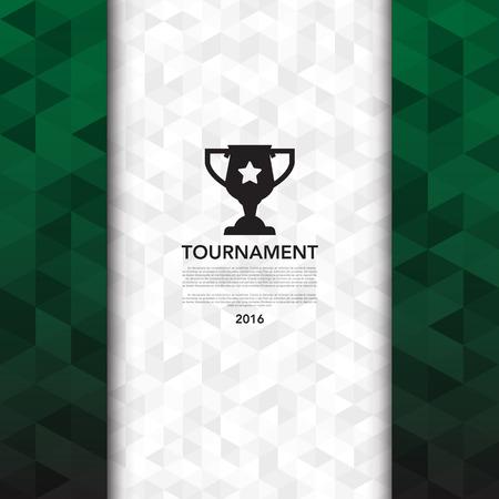 football: Soccer ( football ) tournament background Illustration