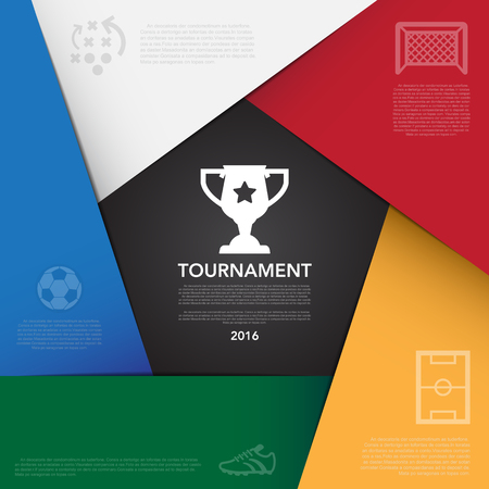 tournament: Soccer ( football ) tournament infographic background