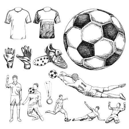 Los elementos de diseño de fútbol