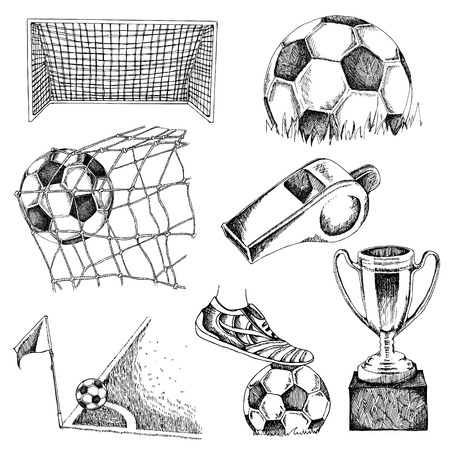 Design elements of soccer. Illustration