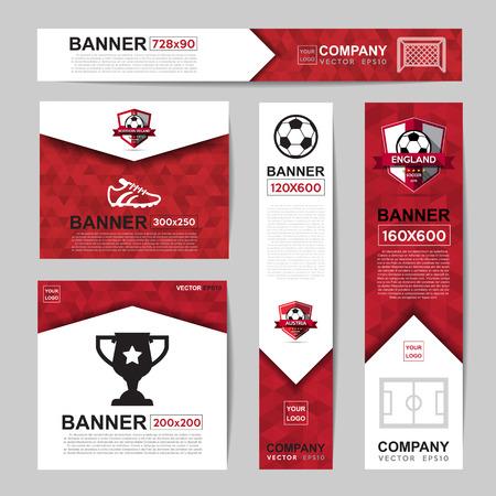 Streszczenie kolor flagi baner dla strony internetowej reklamy Ilustracje wektorowe