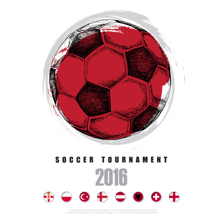 soccer background: Drawing of soccer background ,Poster ,Brochure