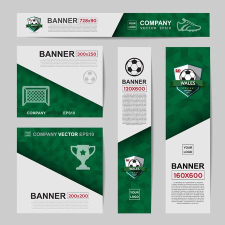 for website: Abstract flag colour banner for Website Ads. Illustration