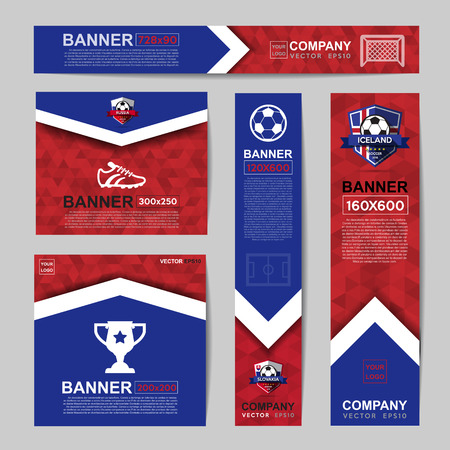 Abstract flag colour banner for Website Ads. 일러스트