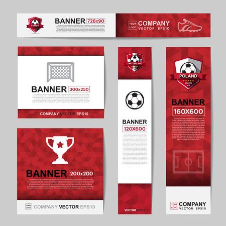 Abstract banner couleur du drapeau pour le site Web Ads.Ratio, 728x90,300x250,200x200,120x600,160x600 Banque d'images - 58192022