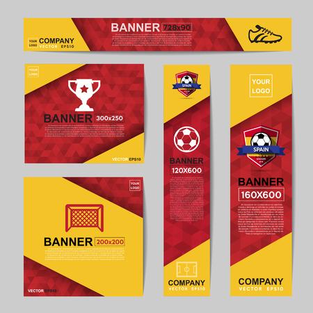 Bandera abstracta del color de la bandera de sitios web Ads.Ratio, 728x90,300x250,200x200,120x600,160x600