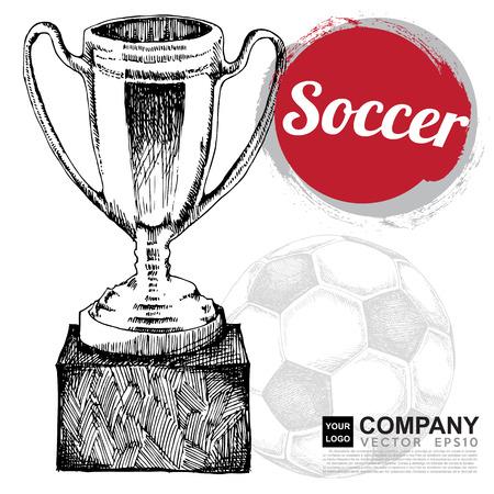 kickoff: Poster design of soccer ( football ) Illustration
