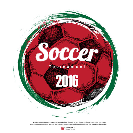 kickoff: Drawing of soccer background ,Poster ,Brochure