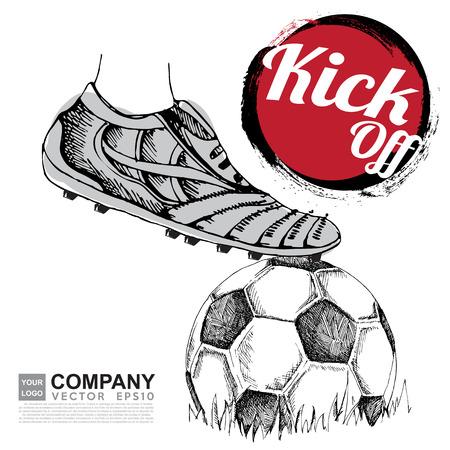 jugador de futbol: Dibujo del fondo del fútbol, ??cartel, folleto