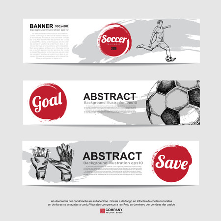 austria: Abstract soccer( football ) banner.