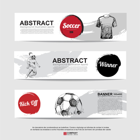 banni�re football: Abstract soccer (football) banni�re.