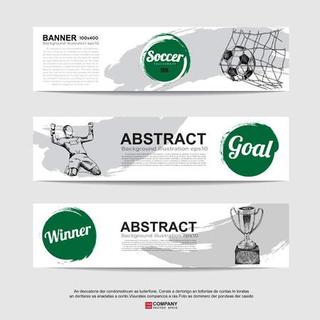 bannière football: Abstract soccer (football) bannière.