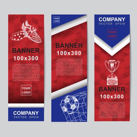 czech: Abstract flag colour banner for Website Ads. Illustration