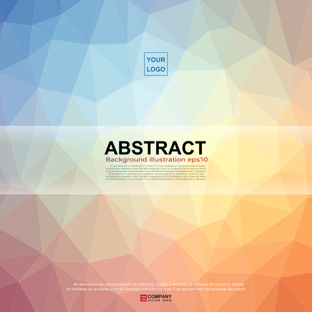blue and green: Abstract banner background Illustration