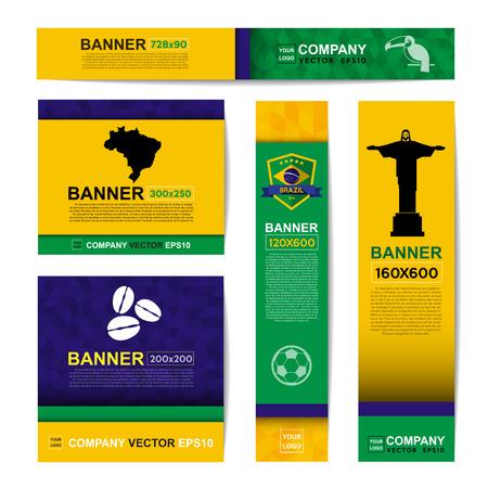 paper sculpture: Abstract flag colour banner for Website Ads. Illustration