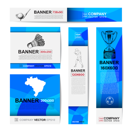 Abstract sport banner for Website Ads. Stock Illustratie