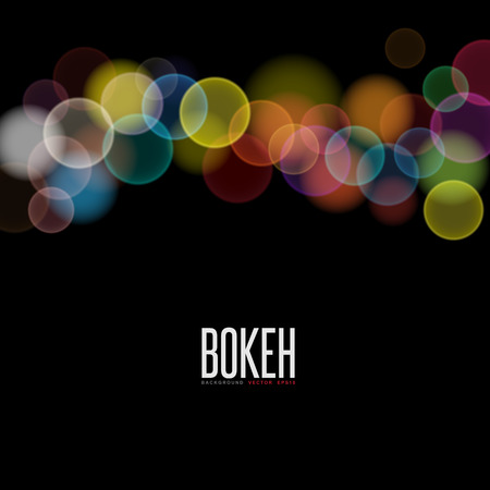 twilight: Abstract background and Blurred Lights on black background with bokeh effect,Bokeh Background