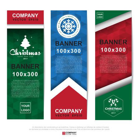 Streszczenie Christmas baner na Boże Narodzenie WWW reklam.